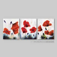 big red poppies wall art