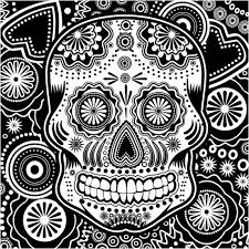 cool black and white designs. Perfect White Black White Sugar Skull Intended Cool And Designs L