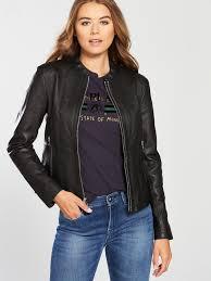 replay women leather biker jacket mpu9j fuadwsz