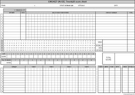 Cricket Score Sheet Excel 9 Cricket Score Volleyball