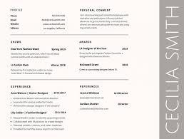 Fantastic Color Font On Resume Festooning Documentation Template