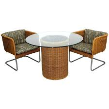 wicker basket chair mid century modern wicker patio set pair of basket chairs table for dawson