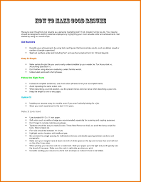 How To Do Job Resume