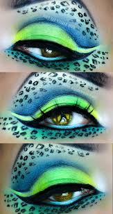 neon leopard eye makeup by ann a exotic best makeup brushes here
