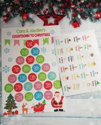 Christmas Chart Images Personalised Countdown To Christmas Chart Calendar And Stickers