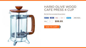 hario olive wood cafe press 4 cup you