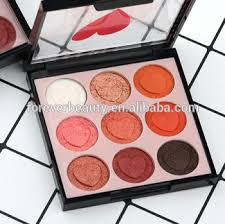 hot high quality professional matte chinese makeup brands 9 colors eyeshadow heart shape shimmer eye shadow