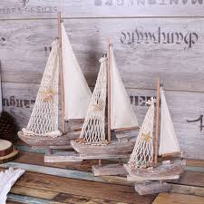 ship wood furniture. american rural style retro sailing ship model handicrafts boat example room home tv ark nautical decoration wood furniture a