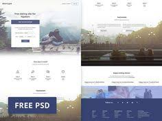 psd freebie blind cupid dating site web template