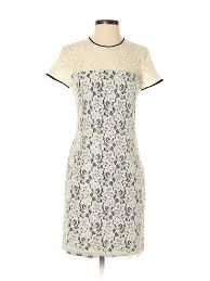 Details About Diane Von Furstenberg Women Yellow Casual Dress 2