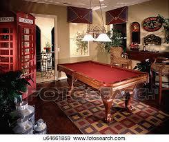 area rug beneath pool table