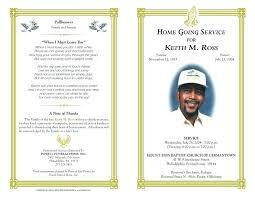 Free Funeral Pamphlet Template Bi Fold Funeral Program Template Free