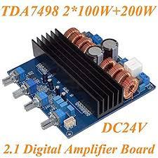 Amazon.com: Nobsound <b>TDA7498</b> 2.1 DC24V-32V Class D 2.1 ...