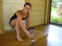 sning a concrete floor is easy just