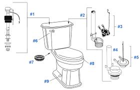 parts diagram for crane classic toilets