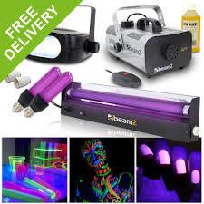 halloween lighting effects machine. UV Disco DJ Glow Lighting Halloween Party Light Effects + Fog Machine Strobe P