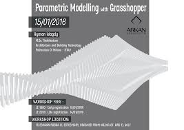 Parametric Design Workshop 2018 Parametric Modelling With Grasshopper Aymanwagdy