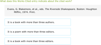 Ixl Understand A Works Cited Entry Mla 7th Edition