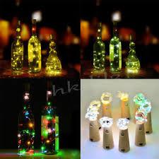 Decorative Wine Bottles With Lights Cork Bottle Stopper Glass Wine 100 LED Fairy String Lights 65