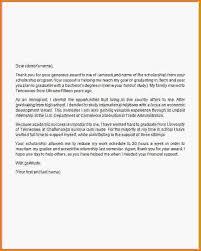 thank you letter scholarship scholarship thank you letter sample