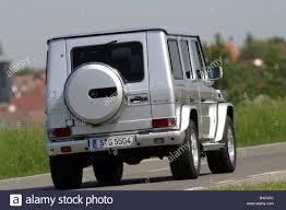 Car, Mercedes AMG G55, model year 2004, silver, cross country ...