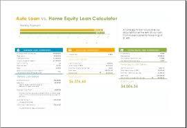 Excel Financial Calculator Car Loan Calculator Template Financial