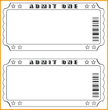 Microsoft Word Ticket Templates Mesmerizing Editable Event Ticket Template Free Haydenmediaco