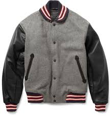 Designer Mens Letterman Jacket Rag Bone Wool Blend Varsity Jacket Leather Varsity