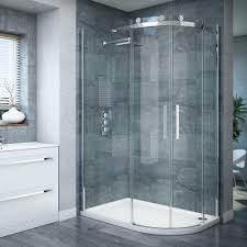 Curved Shower Enclosures Uk Nova Frameless 800 X Offset And Decor