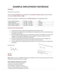 Work Reference Letter Custom Employment Reference Letter Format Rightarrow Template Database