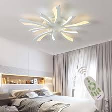 <b>Modern LED</b> Acrylic Remote Controlled Flush Mount <b>Ceiling Light</b> ...