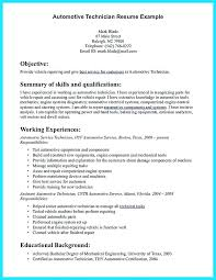 Resume For Auto Mechanic Stunning Automotive Technician Resume Sample Auto Mechanic Resumes Coaxia
