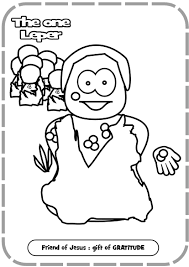 Jesus Healing The Sick Coloring Page In Heals A Leper Coloring ...