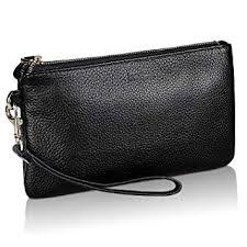 Wristlet Wallet, Clutch Bags for <b>Women</b>, <b>100</b>% Smooth <b>Leather</b> ...