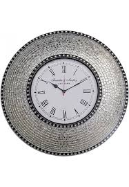 decors 22 5 silver wall clock decorative round wall