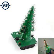 <b>DIY</b> Electronic <b>Kit</b> 7 Colors 3D Christmas Tree <b>LED Flash Kit</b> Three ...