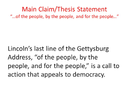 gettysburg address by abraham lincoln ppt video online  4 main