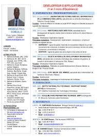 Cv Developpeur D Applications