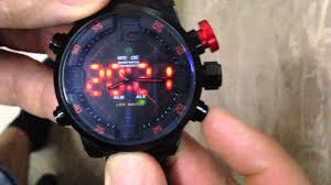 <b>WEIDE sport watch</b> настройка времени - YouTube