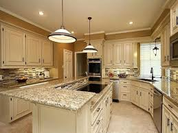 Backsplash For Santa Cecilia Granite Countertop Concept