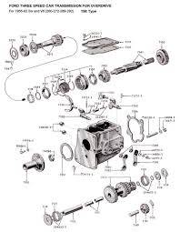 Flathead parts drawings transmissions noticeable borg warner overdrive wiring