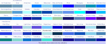 Different Shades Blue Colour Your Life