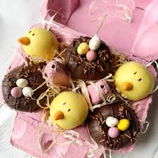 Easter Chick Cake Pop Balls In A Box Yumblescom