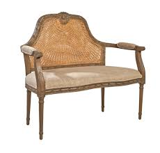 french cane chair. THE WELL APPOINTED HOUSE - Luxuries For The Home HOME French Reproduction Marquis Cane Settee Chair H