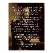 Calvin Coolidge Quotes Persistence Best Calvin Coolidge 'Persistence' Quote Poster Zazzle