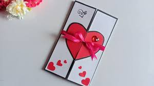 Beautiful Handmade Valentines Day Card Idea Diy Greeting Cards For Valentines Day Card