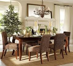 wicker furniture decorating ideas. Amazing Decorating Ideas Using Brown Glass Chandeliers And Rectangular Wooden Tables Also Wicker Furniture