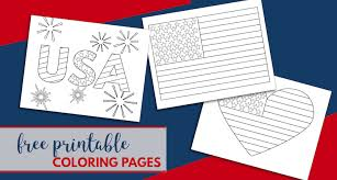 Great activity to help children learn the national flags. Free Printable 4th Of July Coloring Pages Paper Trail Design