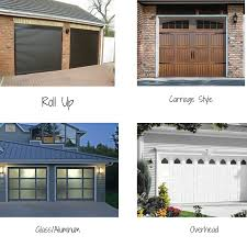 types of garage doors you can choose
