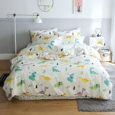 turquoise and white bedding sets turquoise yellow purple and white cute dinosaur animal preppy style kids